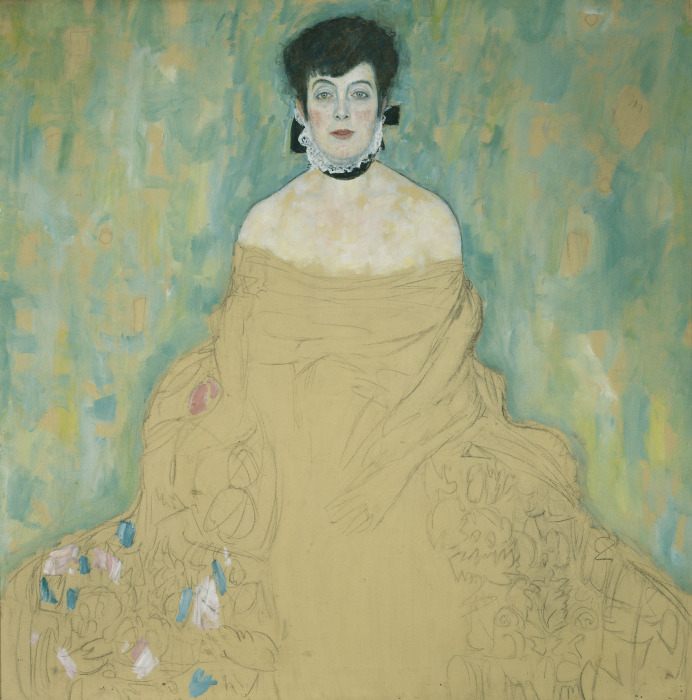 Портрет Амалии Цукеркандль (незавершенное). \ Фото: museumexhibitions.wordpress.com.