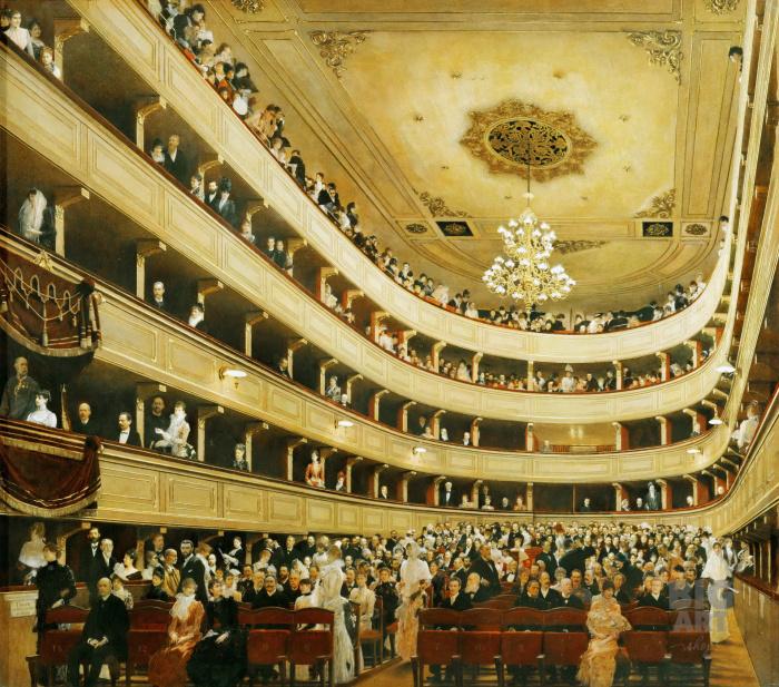 Зрительный зал Старого Бургтеатра. \ Фото: google.com.