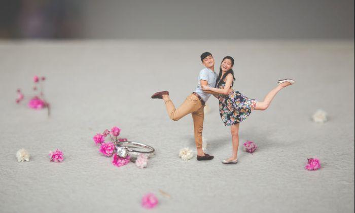 Свадебная миниатюра. Автор: Knotties Frame.
