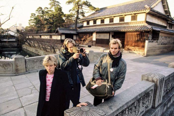 Британская рок-группа «The Police» в городе Курасики, префектура Окаяма, январь 1981 года. Автор: Koh Hasebe.