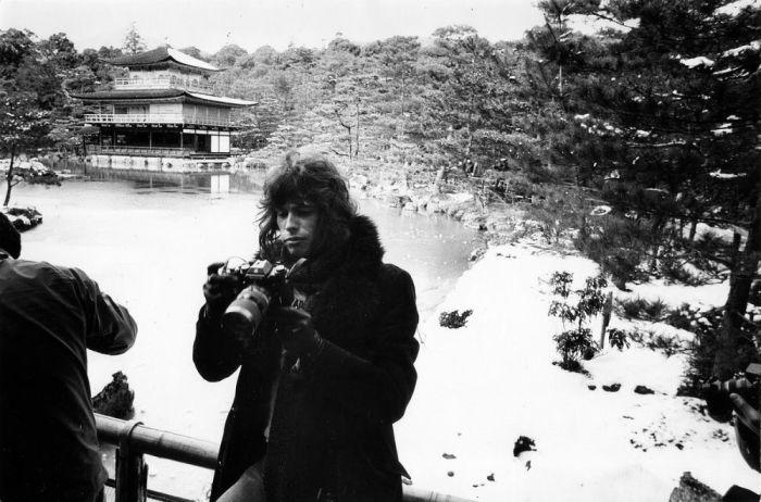 Лидер группы «Aerosmith» Стивен Тайлер в Киото, 1977 год. Автор: Koh Hasebe.