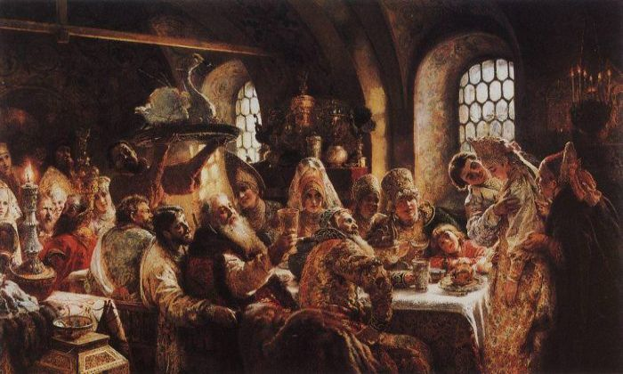 Боярский свадебный пир в XVII веке. 1883 год, Музей Хилвуд, Вашингтон, США. Автор: Константин Маковский.