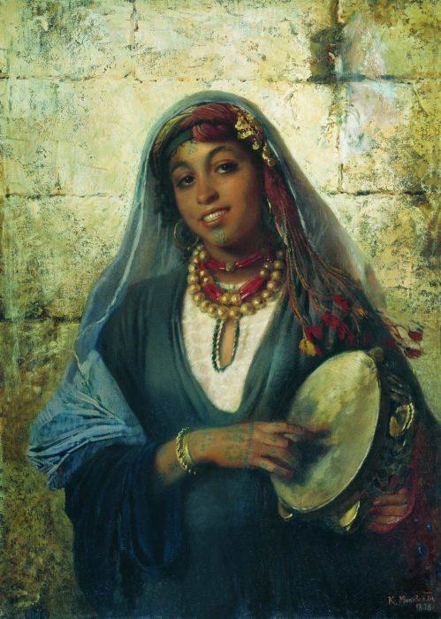 Восточная женщина (Цыганка), 1878 год. Автор: Константин Маковский.