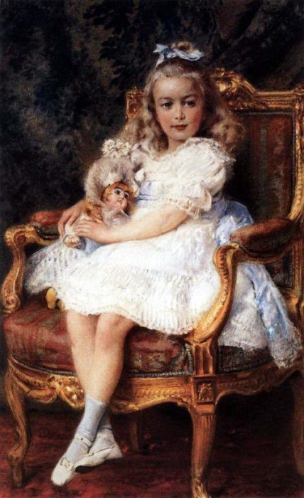Портрет девочки. Автор: Константин Маковский.
