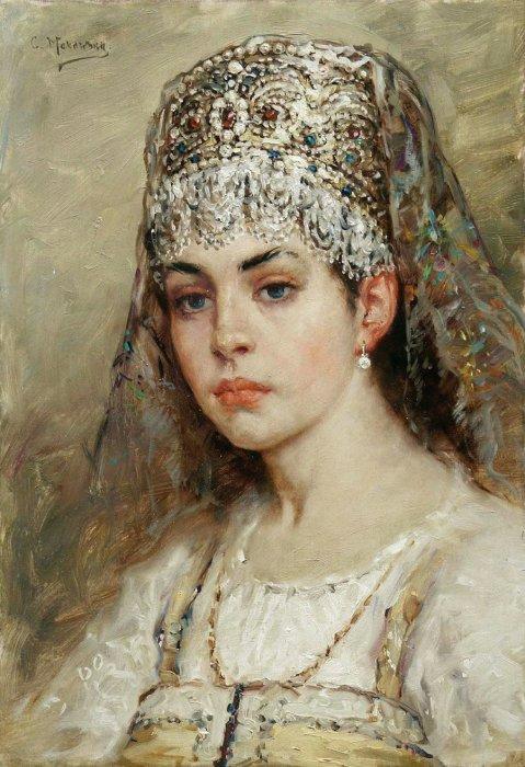 Боярышня, 1880-е годы. Автор: Константин Маковский.
