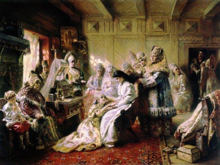 Под венец, 1884 год. Автор: Константин Маковский.