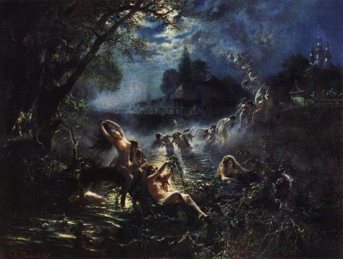 Русалки. 1879, Демонстрировалась на VII Передвижной выставке в 1879 году. Автор: Константин Маковский. Автор: Константин Маковский.
