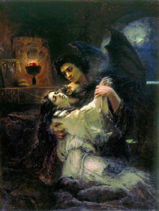 Демон и Тамара, 1889 год. Автор: Константин Маковский.