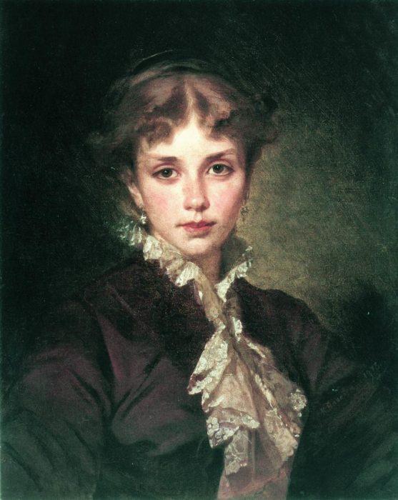 Женский портрет, 1878 год. Автор: Константин Маковский.