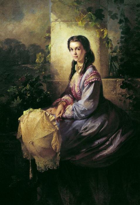 Княгиня Волконская Мария Михайловна, 1905 год, Государственный музей искусств Грузии. Автор: Константин Маковский.