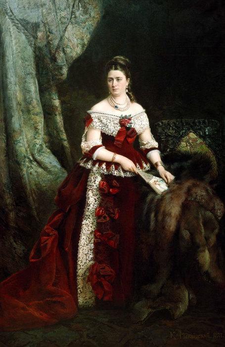Графиня Зубова Вера Сергеевна, 1877 год, Русский музей. Автор: Константин Маковский.