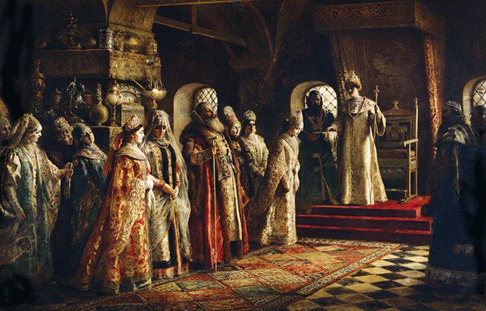 Выбор невесты царём Алексеем Михайловичем, 1886 год, Музей искусств Понсе, Пуэрто Рико. Автор: Константин Маковский.