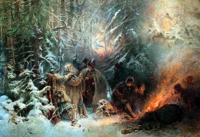 Иван Сусанин, 1914 год, частное собрание. Автор: Константин Маковский.