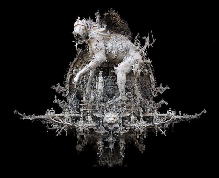 Парад чумы: Четвёртое нашествие. Автор: Kris Kuksi.