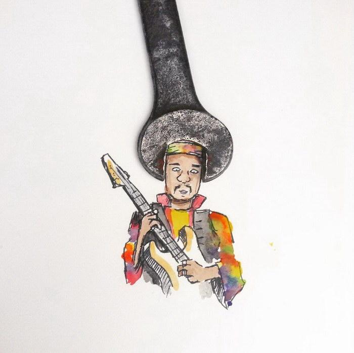 Мексиканский музыкант. Автор: Kristian Mensa.