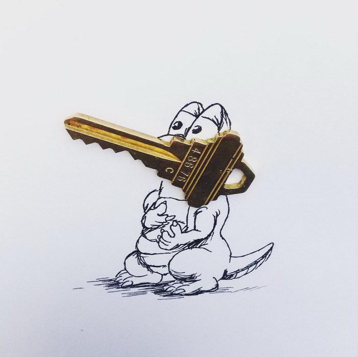 Крокодил. Автор: Kristian Mensa.