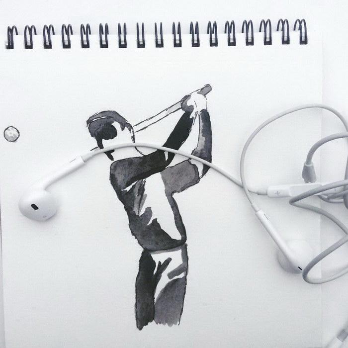 Игра в гольф. Автор: Kristian Mensa.