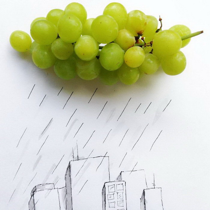 Дождь над городом. Автор: Kristian Mensa.