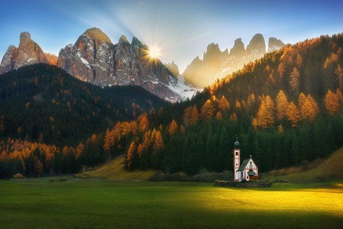 Солнце в горах. Автор: Krzysztof Browko.