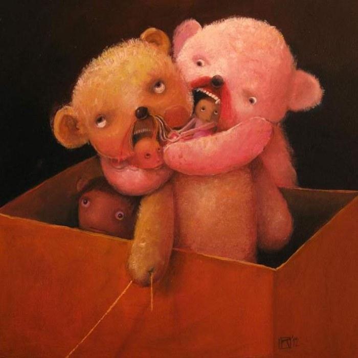 Плюшевые мишки. Автор: Krzysztof Iwin.