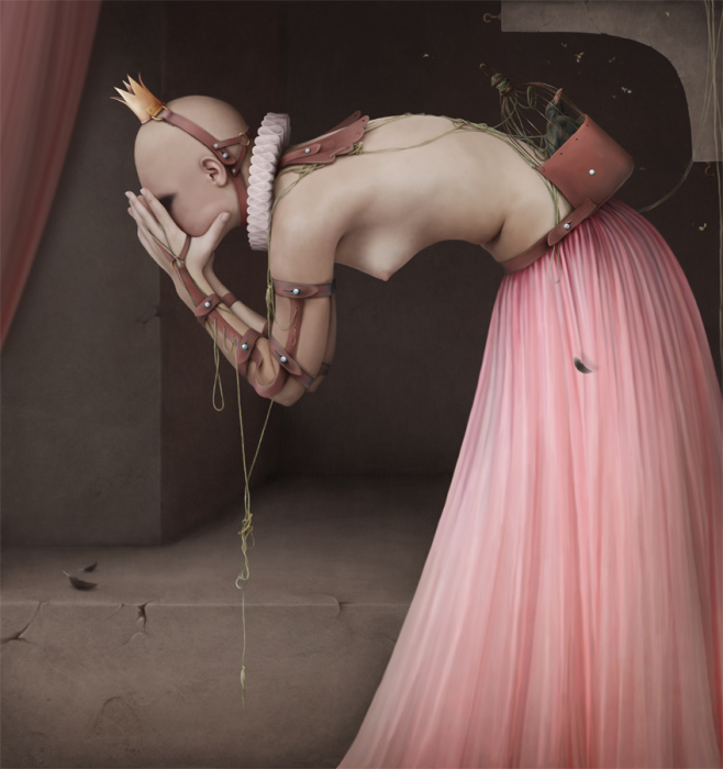 Таинственно-мрачные образы в работах Ларисы Кулик (Kulik Larissa).