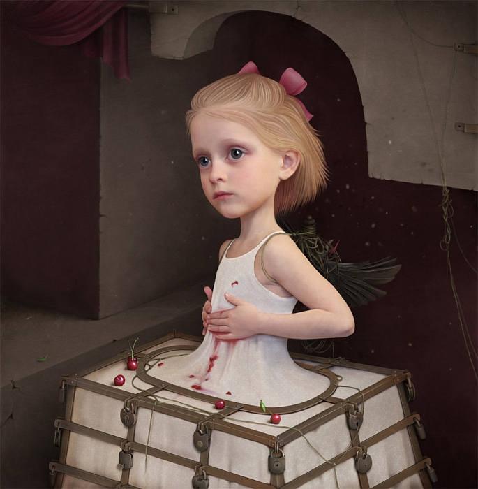Девочка в железной юбке. Автор работ: Лариса Кулик (Kulik Larissa).
