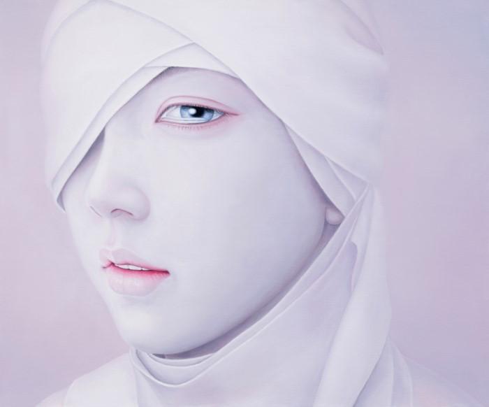 Меланхоличнно-безвольные красавицы на драматичных картинах корейского художника