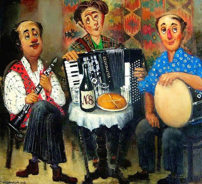 Музыканты. Автор: Lado Tevdoradze.