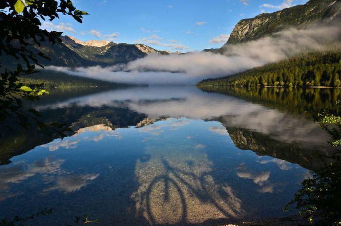 Велосипед. Озеро Бохинь.