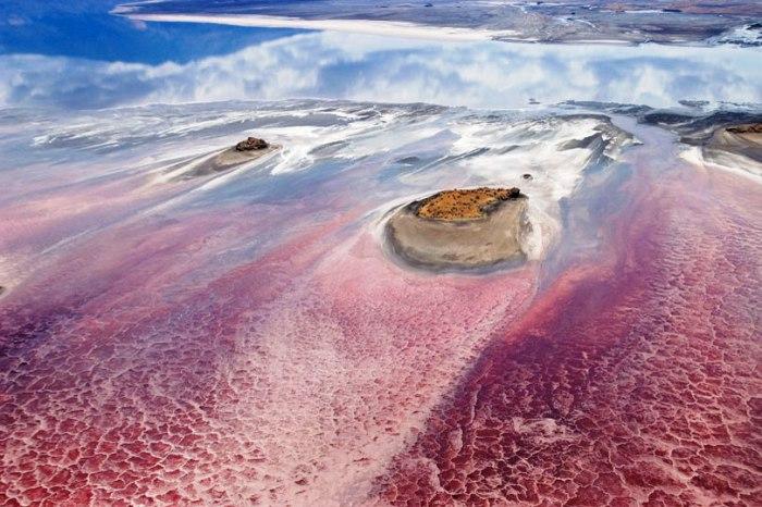 Гнездовье Розовых Фламинго на содовых озерах Восточно-Африканской рифтовой системы