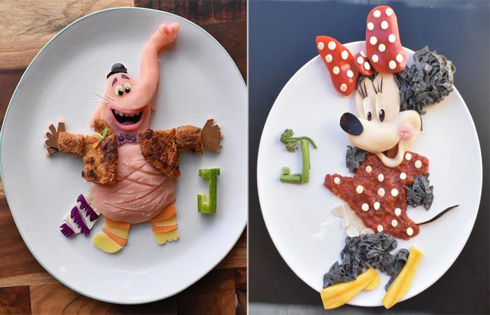 Креативные завтраки в виде известных персонажей. Автор: Laleh Mohmedi.
