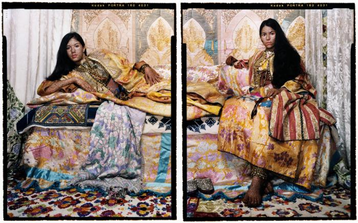 Одалиски. Автор работ: марокканская художница Лала Эссаиди (Lalla Essaydi).