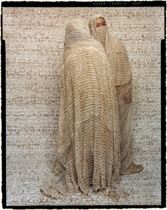 В одном цвете. Автор работ: марокканская художница Лала Эссаиди (Lalla Essaydi).