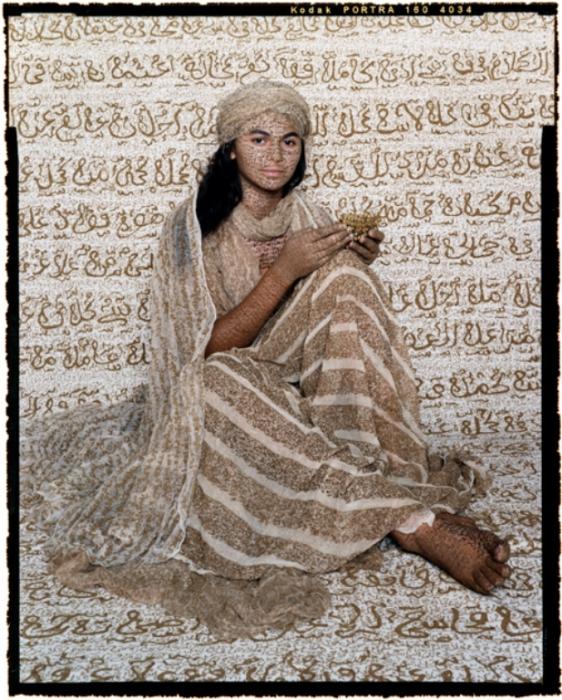 Восточные работы марокканской художницы Лалы Эссаиди (Lalla Essaydi).