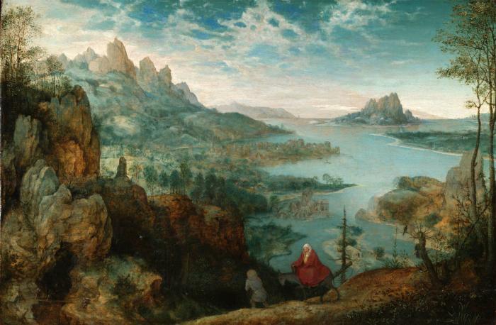 Картина Питера Брейгеля Старшего «Бегство в Египет», 1563 год.