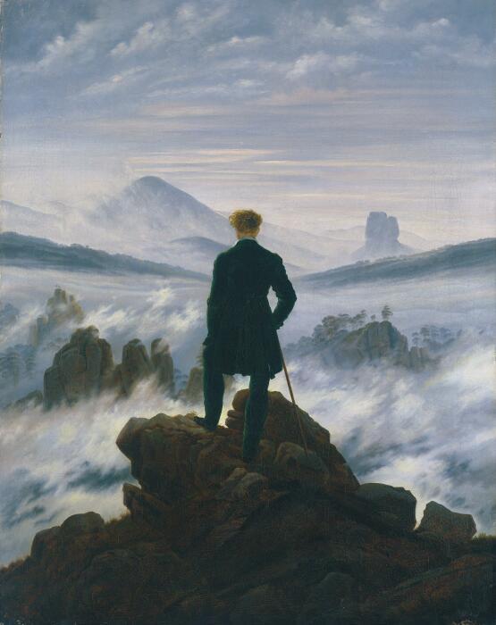 Картина Каспара Давида Фридриха Странник над морем тумана, 1817 год. \ Фото: