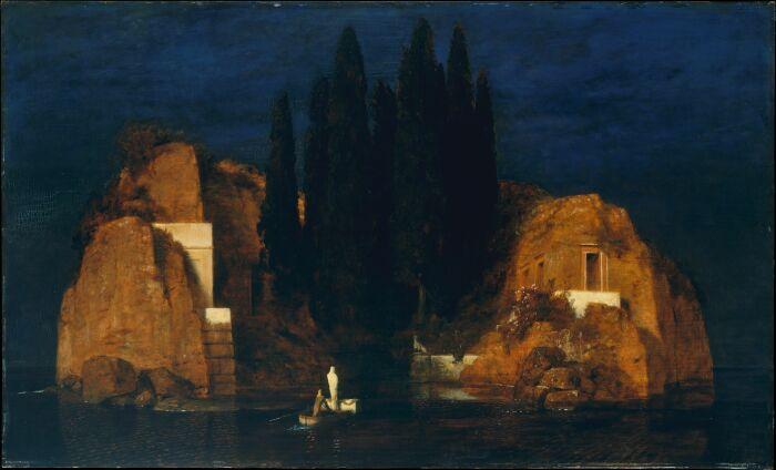 Картина Арнольда Бёклина Остров мёртвых, 1880 год. \ Фото: pornkruby.com.