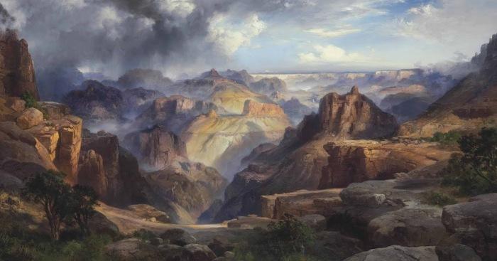 Картина Томаса Морана Большой каньон Колорадо, 1904 год. \ Фото: blogspot.com.