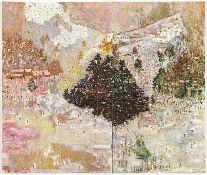 Картина Питера Дойга Лыжная куртка, 1994 год. \ Фото: pinterest.dk.