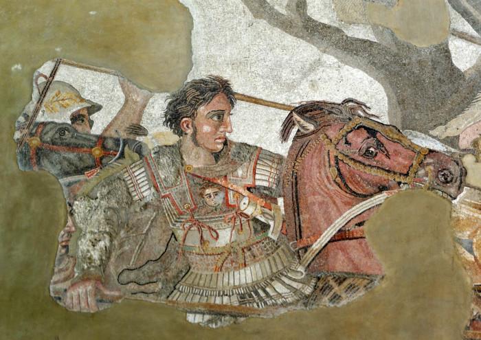 Александр Македонский на фрагменте древнеримской мозаики из Помпей. \ Фото: google.com.