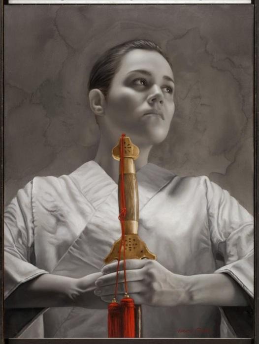 Девушка с мечом. Автор: Лариса Морейс.