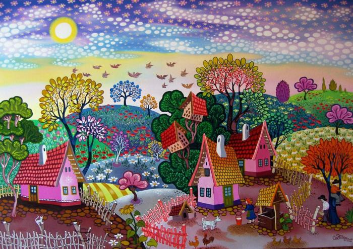 Волшебные миры от художника Ласло Кодай.