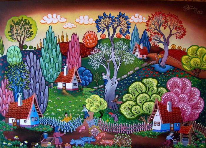 Деревенская жизнь. Автор: Laszlo Koday.