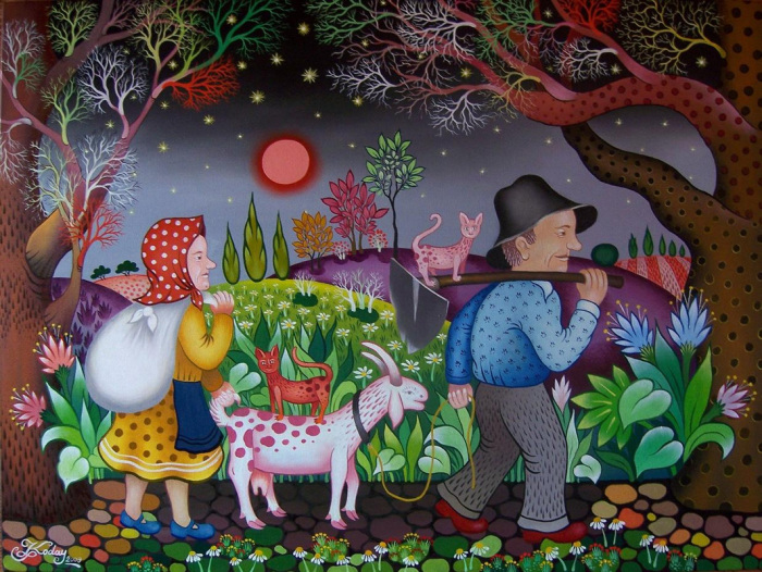 Романтическая ночь. Автор: Laszlo Koday.