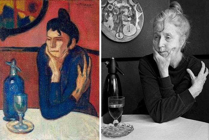 Любительница абсента — Пабло Пикассо. Автор: Laura Hofstadter.