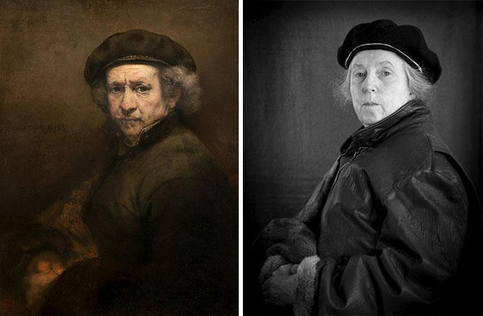 Автопортрет — Рембрандт. Автор: Laura Hofstadter.