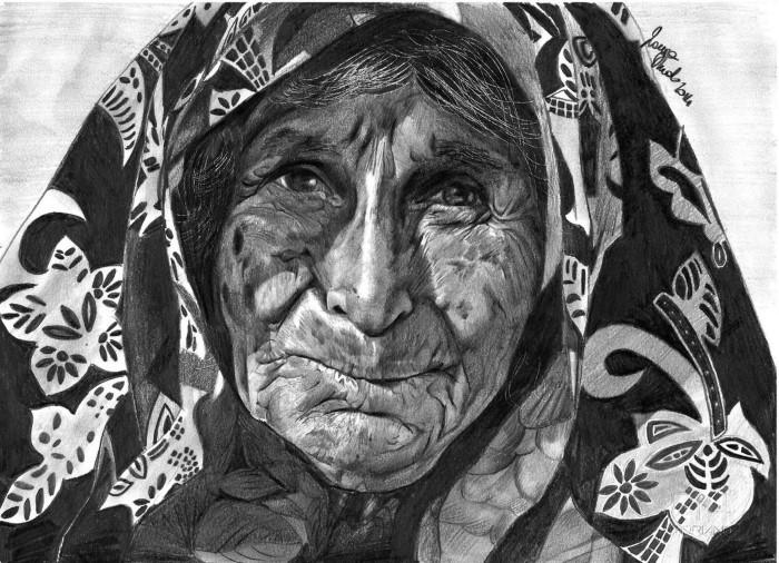 Женщина в платке. Автор: Laura Muolo.