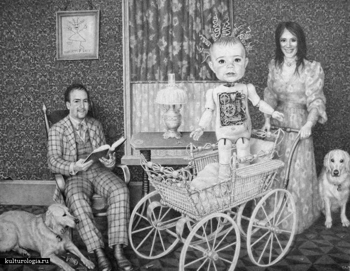 Портрет семейства Мур. Автор: Laurie Lipton.