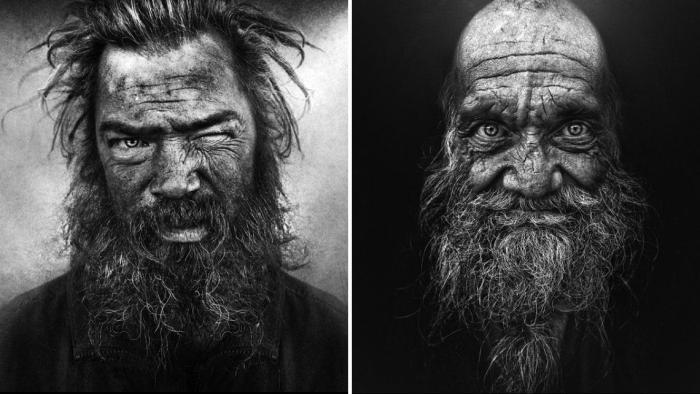 Портреты бездомных. Автор: Lee Jeffries.