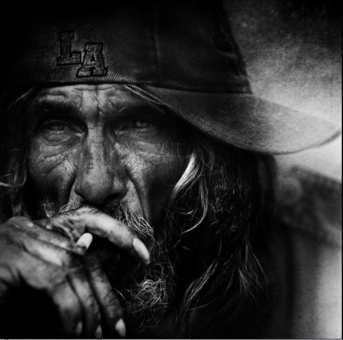 Бродяга. Автор работ: фотограф Ли Джеффрис (Lee Jeffries).